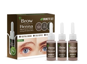 BH BROW HENNA SET Brown 3 colors