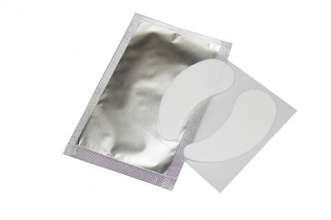 Light gel patches for lash extension, white, nourishing effect, 1 pair