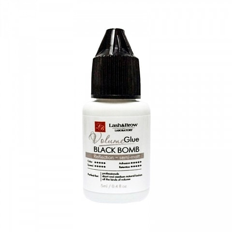 Glue for eyelash extension Black Bomb, 5 ml