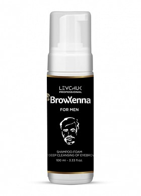 BROWXENNA® SHAMPOO-FOAM FOR DEEP CLEANSING OF EYEBROWS FOR MEN